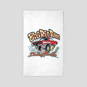Big Red Ram Cartoon Area Rug