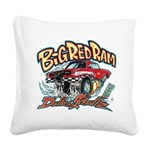 Big Red Ram Cartoon Square Canvas Pillow