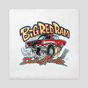 Big Red Ram Cartoon Queen Duvet