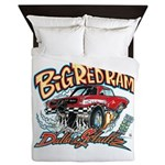 Big Red Ram Cartoon Queen Duvet