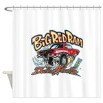 Big Red Ram Cartoon Shower Curtain