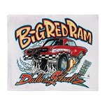 Big Red Ram Cartoon Throw Blanket