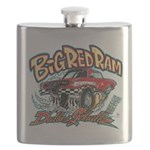 Big Red Ram Cartoon Flask