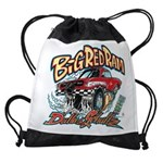 Big Red Ram Cartoon Drawstring Bag
