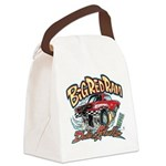 Big Red Ram Cartoon Canvas Lunch Bag