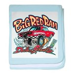 Big Red Ram Cartoon baby blanket