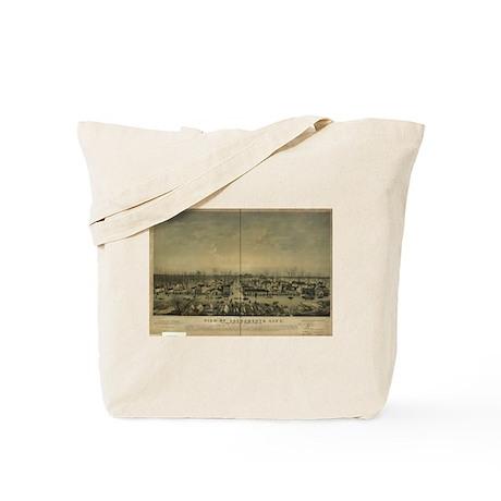 Sacramento Antique Map Tote Bag