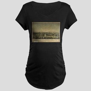 Sacramento Antique Map Maternity Dark T-Shirt