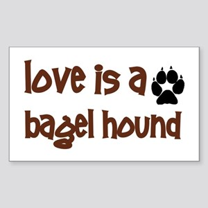 Love is a Bagel Rectangle Sticker