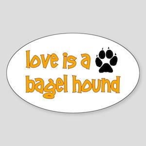 Love is a Bagel Oval Sticker