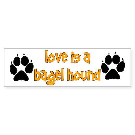 Love is a Bagel Bumper Sticker