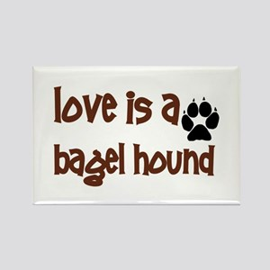 Love is a Bagel Rectangle Magnet