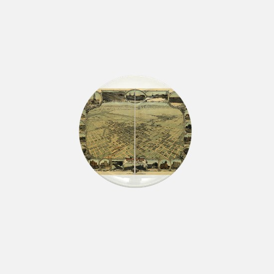 Bakersfield old map Mini Button