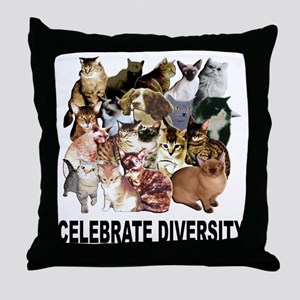 Celebrate Diversity Throw Pillow