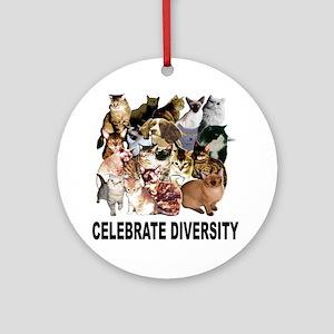 Celebrate Diversity Ornament (Round)