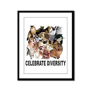 Celebrate Diversity Framed Panel Print