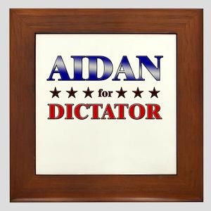 AIDAN for dictator Framed Tile