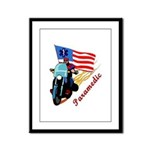 Paramedic Bikers Framed Panel Print
