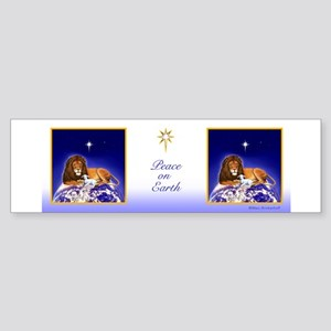 Lion & Lamb 'Peace on Earth' ~ Bumper Sticker