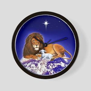 Lion & Lamb ~ Wall Clock