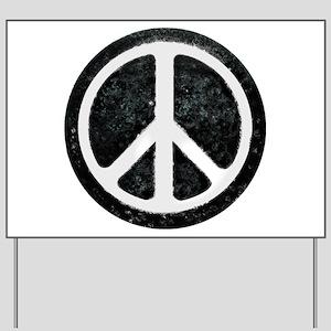 Original Vintage Peace Sign Yard Sign