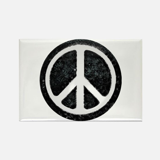 Original Vintage Peace Sign Rectangle Magnet (100