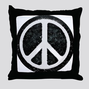 Original Vintage Peace Sign Throw Pillow