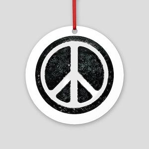 Original Vintage Peace Sign Ornament (Round)