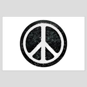 Original Vintage Peace Sign Large Poster