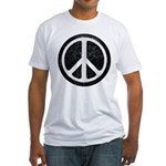 Original Vintage Peace Sign Fitted T-Shirt