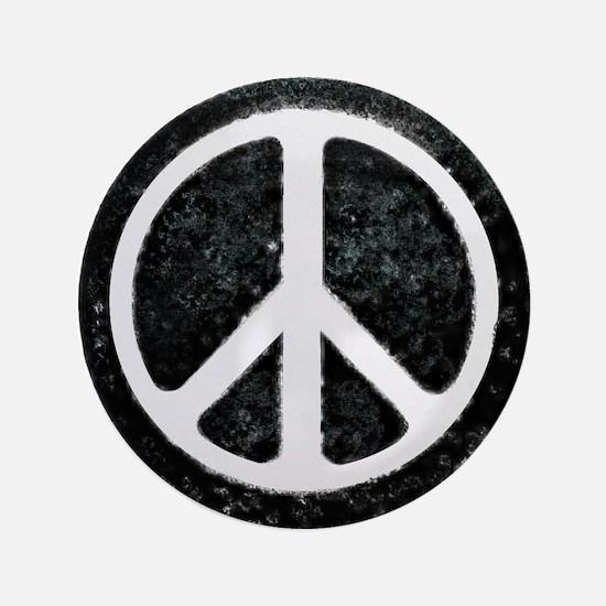 """Original Vintage Peace Sign 3.5"""" Button"""
