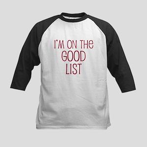I'm on the Good List Kids Baseball Jersey