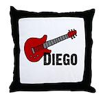 Guitar - Diego Throw Pillow