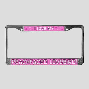 Pnk Plk Dt Peachfaced Lovebird License Plate Frame