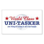 World Class Uni-Tasker Rectangle Sticker