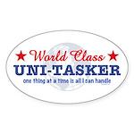 World Class Uni-Tasker Oval Sticker