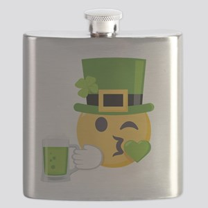 Green Beer Green Kiss Flask