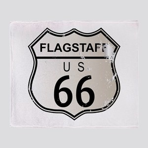 Flagstaff Route 66 Throw Blanket