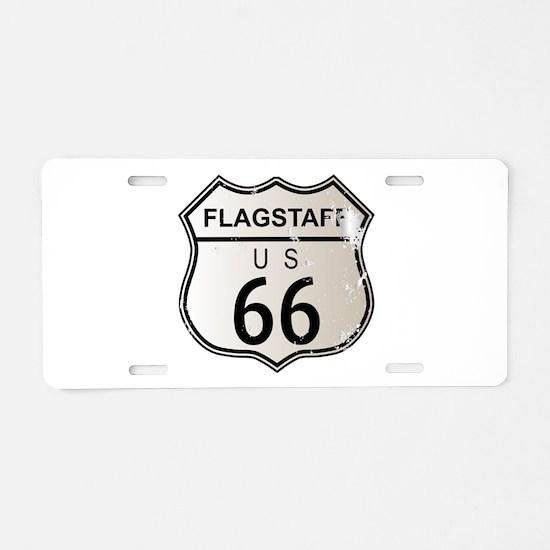 Flagstaff Route 66 Aluminum License Plate