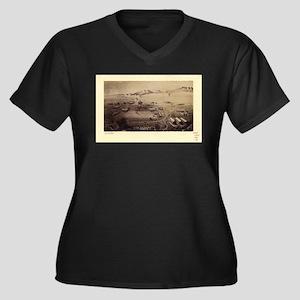 Fort Collins Women's Plus Size V-Neck Dark T-Shirt