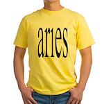 309. aries. .  Yellow T-Shirt