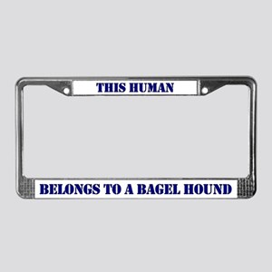 This Human Belongs To License Plate Frame