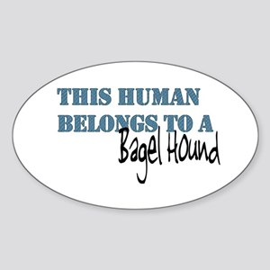 This Human Belongs To Oval Sticker