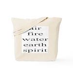 324. air fire water earth spirit Tote Bag