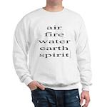 324. air fire water earth spirit Sweatshirt