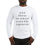 324. air fire water earth spirit Long Sleeve T-Shi
