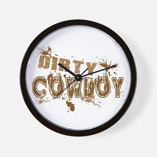 Dirty Cowboy Wall Clock