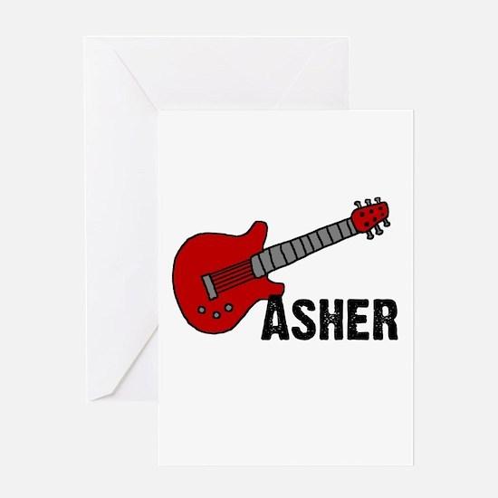 Guitar - Asher Greeting Card