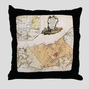 Vintage Map of Prince Edward Island ( Throw Pillow