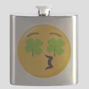 Kissing Face Shamrock Flask